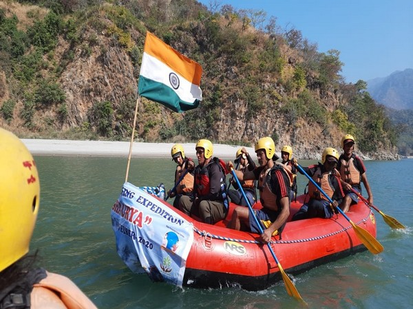 River rafting and cycling expedition 'Shaurya', by Indo-Tibetan Border Police (ITBP), reached Srinagar city here on Saturday.