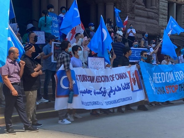East Turkistan Association of Canada organises 15-day walking protest against China's massive human rights abuses of Uyghur Muslims (ANI)