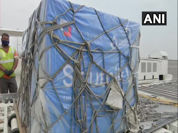 The first lot of Sputnik V vaccine from Russia arrives in Hyderabad. (Photo/ANI)