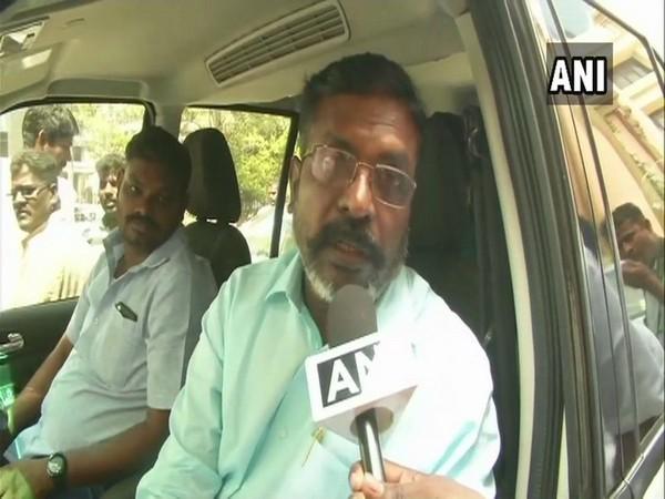 Viduthalai Chiruthaigal Katchi founder-leader Thol Thirumavalavan speaking to ANI on Monday