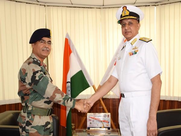 Vice Admiral Kiran Manikrao Deshmukh (right) is a recipient of the Visisht Seva Medal (VSM) for his distinguished service. (Photo/ANI)