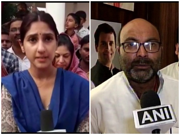 UP Congress MLA Aditi Singh and UP Congress chief Ajay Kumar Lallu speaking to ANI on Friday.