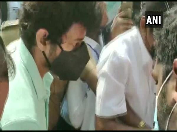 Tamil actor Vijay casting his vote in Chennai. (Photo/ANI)