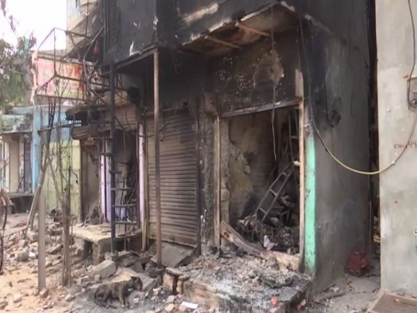Shops at Shiv Vihar Chowk were vandalised during the violence in northeast Delhi. [File Photo/ANI]