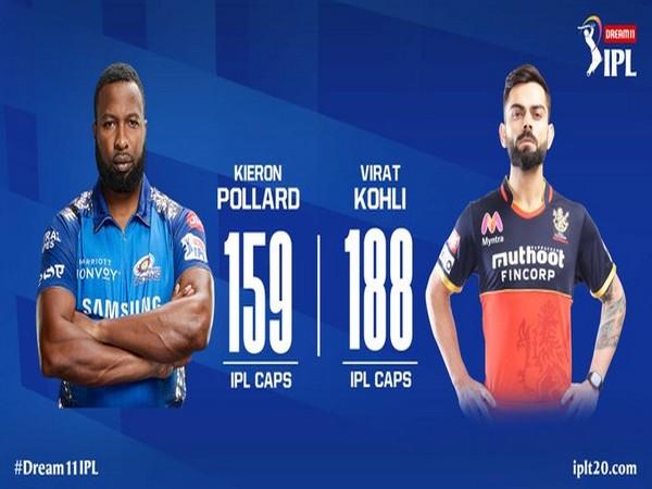 MI skipper Kieron Pollard and RCB captain Virat Kohli (Photo/ IPL Twitter)