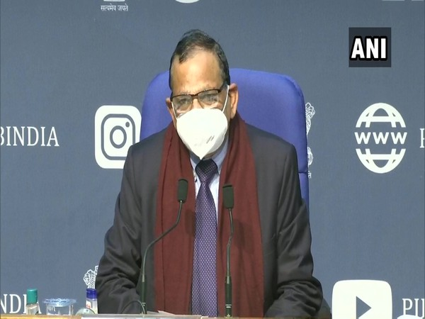 NITI Aayog member (health) Dr VK Paul addressing a press conference in New Delhi on Tuesday. Photo/ANI