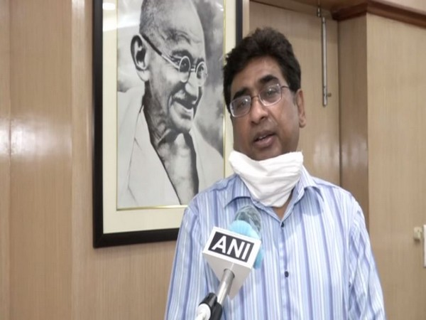 Railway Board Chairman Vinod Kumar Yadav speaking to ANI in New Delhi on Saturday [Photo/ANI]