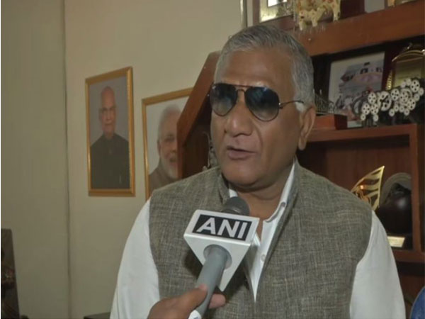 V K Singh, MoS, Ministry of Road Transport and Highways speaking to ANI in New Delhi on Friday. Photo/ANI