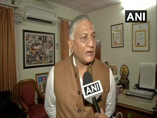 Union Minister Gen (retired) VK Singh speaking to ANI on Thursday.