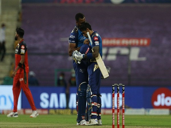Kieron Pollard with Suryakumar Yadav (Photo/ iplt20.com)