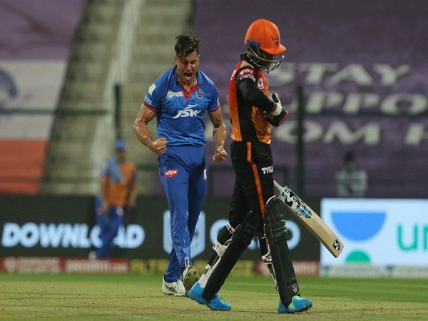 Delhi Capitals' all-rounder Marcus Stoinis in action against SRH (Photo/ iplt20.com)