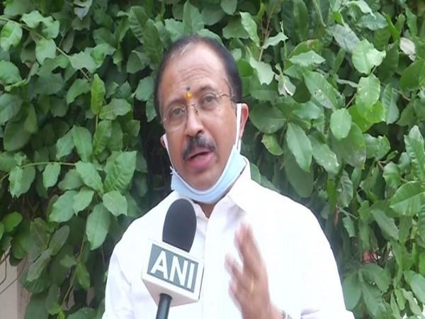 BJP leader V Muraleedharan speaking to ANI in Delhi on Thursday. Photo/ANI