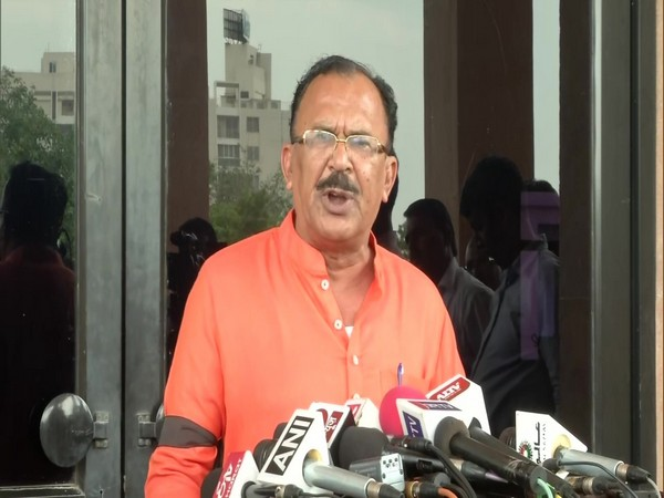 BJP MLA V Devnani addressing a press conference in Jaipur on Wednesday. Photo/ANI