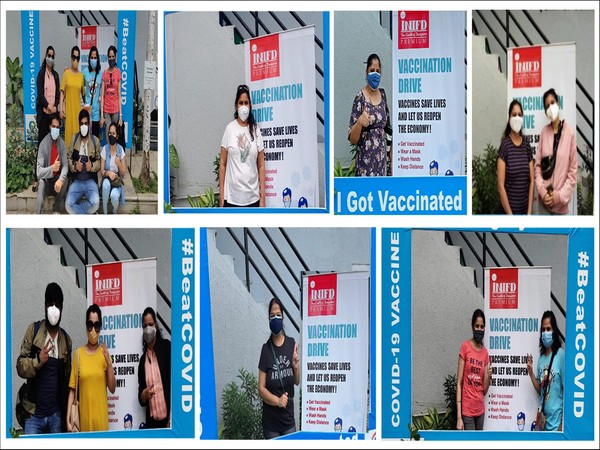 Vaccination drive for faculty and family members at INIFD Kothrud