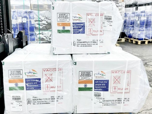 Consignment of Made in India COVID-19 vaccines airlifted for Guyana, Jamaica and Nicaragua. (Twitter)