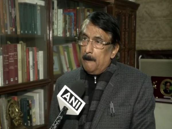 BJP leader Tom Vadakkan speaking to ANI in New Delhi on Wednesday. (Photo/ANI)