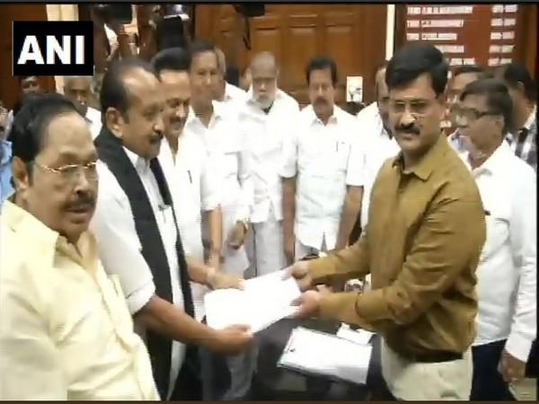 MDMK Chief Vaiko files nomination for Rajya Sabha elections on Saturday (Photo/ANI)