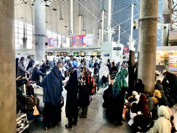 A total of 310 Indian pilgrims, hailing from Ladakh, depart from Tehran, Iran for New Delhi.