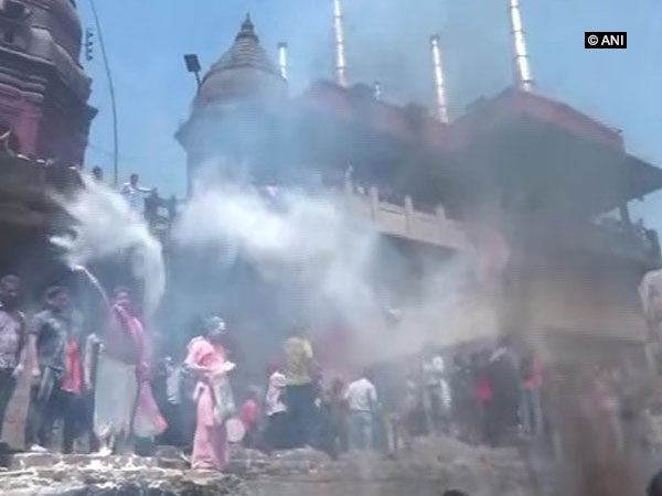 Holi celebration with ashes of the dead, in Varanasi