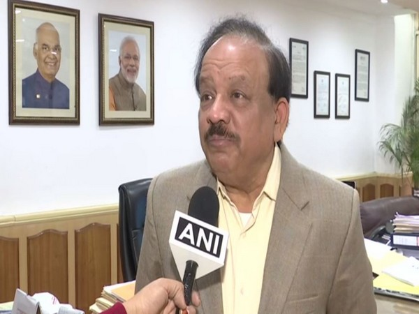 Union Minister Harsh Vardhan speaking to ANI in New Delhi on Monday. photo/ANI