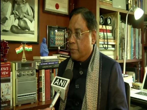 JD(U) leader Pavan Varma speaking to ANI on Sunday in New Delhi