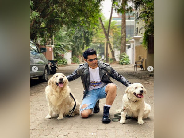 Actor Varun Dhawan with his pets (Photo Courtesy: Instagram)