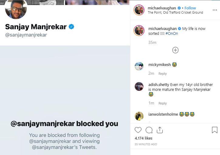 My life is now sorted: Vaughan on being blocked by Manjrekar