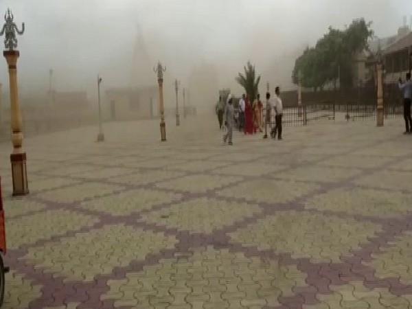 Dust storm hitting Somnath Temple
