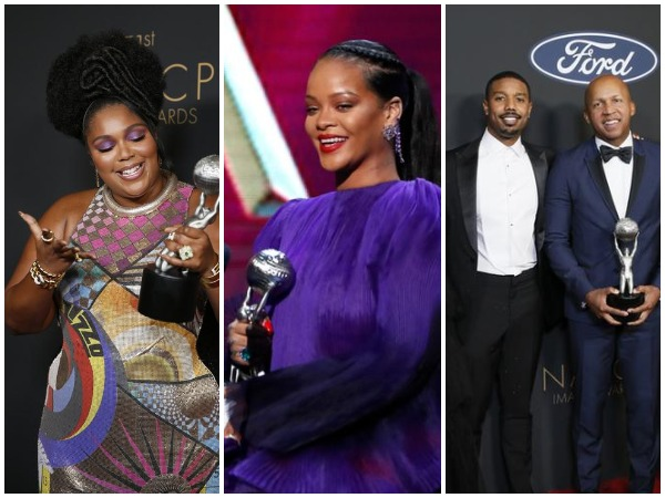 Lizzo, Rihanna and the 'Just Mercy' team at the 51st NACCP Image Awards 2020