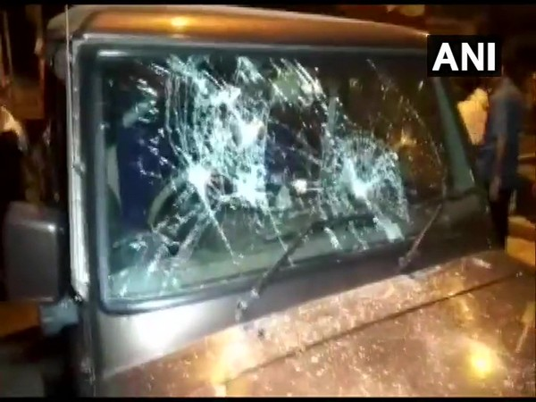 Visuals of the attacked vehicle in North 24 Parganas, West Bengal.