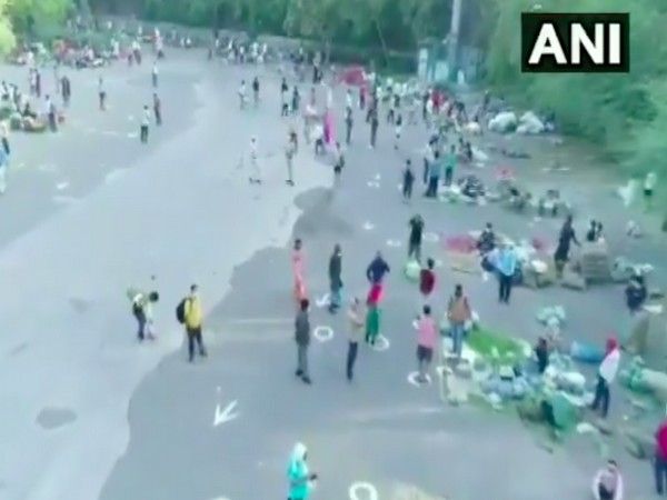 Mehrauli Vegetable Market temporarily relocated to DTC bus terminal  (photo/ANI)