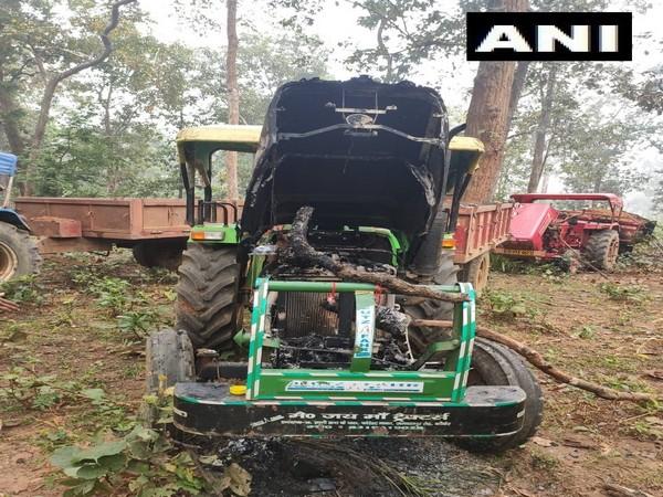 Six vehicles were allegedly set ablaze by naxals in Chhattisgarh on Saturday