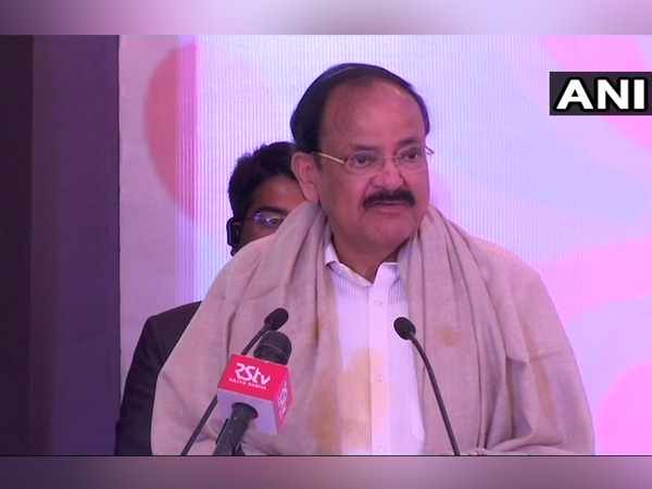 Vice President M. Venkaiah Naidu while addressing a gathering at the outreach event on 'Accomplishments and Way Forward for Textile Sector'