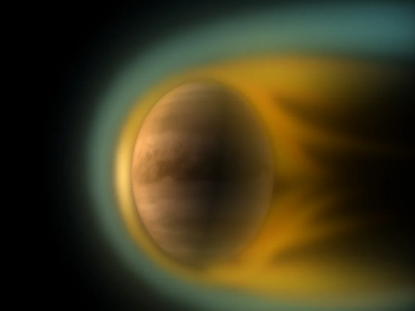 Artist's view of Venus, a planet with no magnetic shelter (Image credits: ESA - C. Carreau/ Swedish Institute of Space Physics)