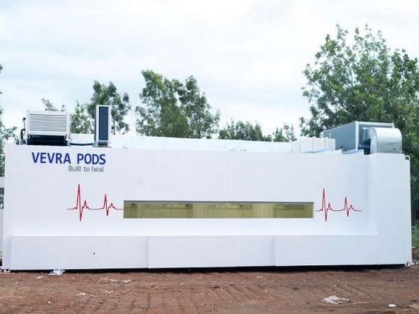Vevra Pods is an innovative movable hospitals integrated with artificial intelligence to treat patients effectively