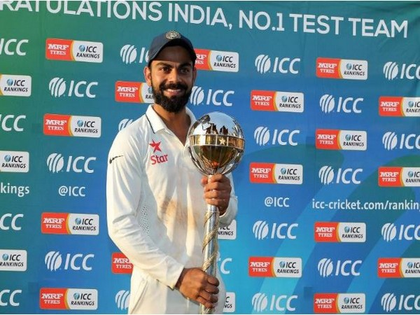 India captain Virat Kohli holding ICC Test Championship Mace (Photo/ ICC)