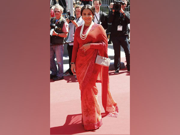 "Vidya Balan arrives for the screening of the film ""Un Chateau en Italie"" in competition during the 66th Cannes Film Festival in Cannes"