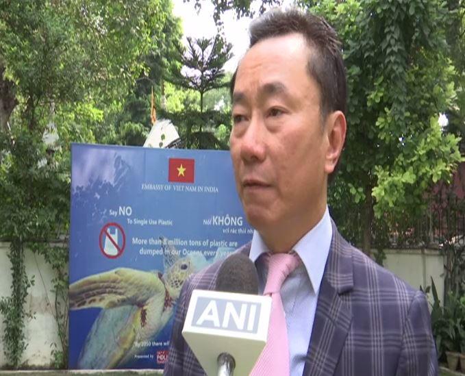 Vietnamese ambassador to India Pham Sanh Chau speaking to ANI in New Delhi on Thursday. (Photo/ANI)
