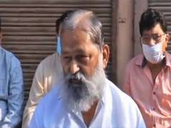 Haryana Home Minister Anil Vij has directed the authorities to check whether the COVID guidelines are being followed in the institutions or not. (File Photo/ANI)