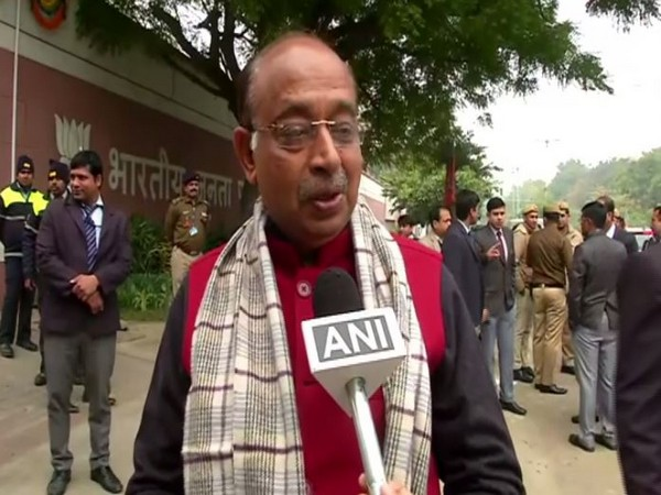 BJP leader Vijay Goel during party's national president election at BJP headquarters in New Delhi Photo/ANI