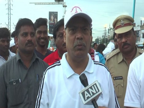 Police Commssioner D Tirumala Rao speaking to ANI at the event on Sunday. Photo/ANI