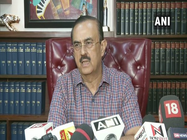 Vikas Singh, lawyer of the father of late actor Sushant Singh Rajput talking to reporters on Thursday. Photo/ANI