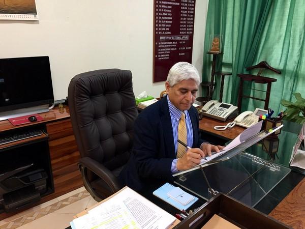 Vikas Swarup in New Delhi (Picture Credits: Vikas Swarup/Twitter)