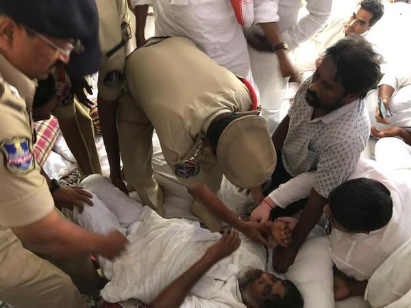 Congress Legislature Party leader Bhatti Vikramarka while shifting to the hospital on Monday. (File Photo)