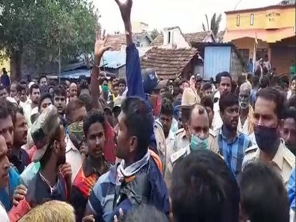 Protests broke out in Managutti village after a Shivaji idol was taken down because it did not have the necessary permission. (Photo/ANI)