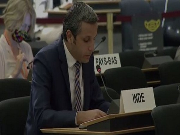 Vimarsh Aryan, First Secretary, MEA, speaking at the 45th UNHRC session.