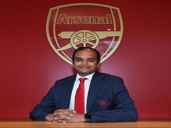 Arsenal managing director Vinai Venkatesham (Photo/Arsenal Twitter)