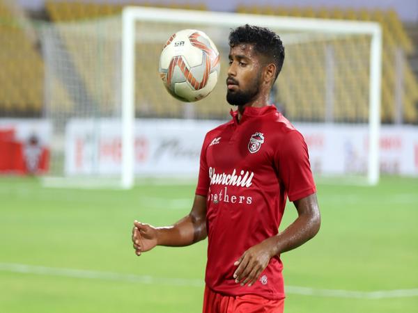 Churchill Brothers midfielder Vinil Poojary (Photo/ I-League)