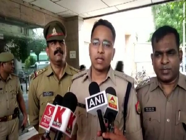 Superintendent of Police (City) Vinit Jaiswal speaking to media reporters on Friday. Photo/ANI