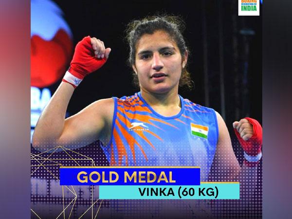 India boxer Vinka (Photo/ Boxing Federation Twitter)